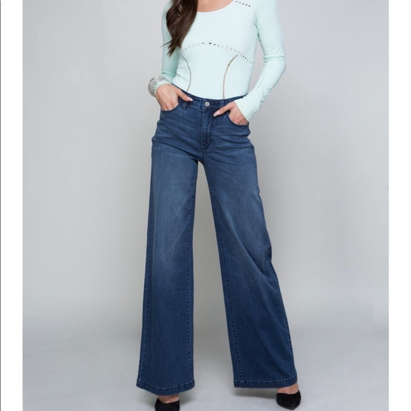 bebe Denim - Bebe rhinestones on back stone blue jeans